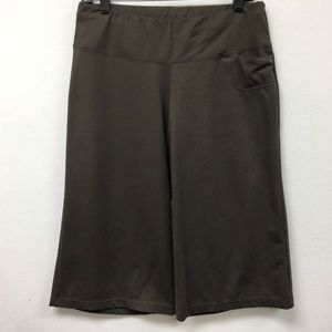Lucy Pants Brown Yoga Workout Activewear Wide Leg